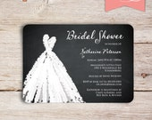 Sweetheart Chalkboard Bridal Shower Invitations