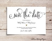 Save the Date - gold heart