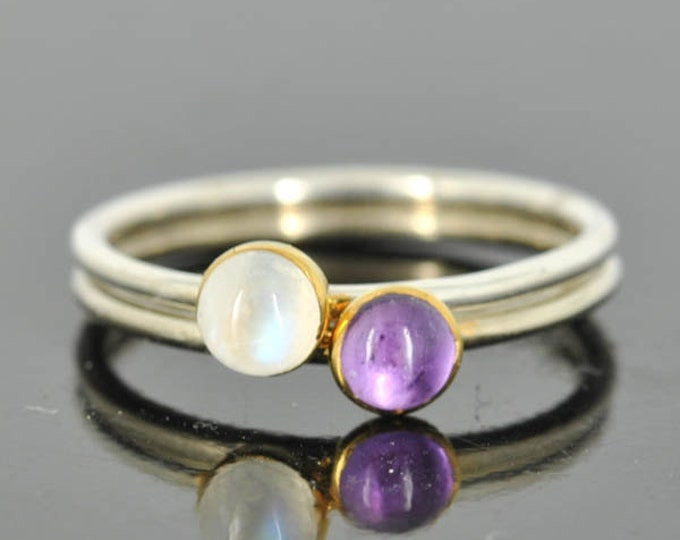 Moonstone ring, Gold bezel, gemstone ring, stacking ring, october birthstone ring, personalized ring, bridesmaid gift, statement ring