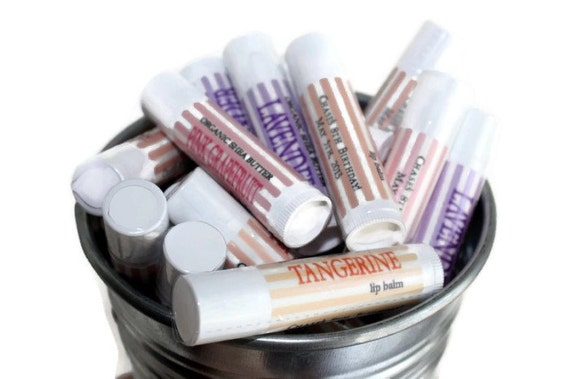 Custom Lip Balm for your Party, Shower, Wedding // 20 tubes Natural Lip Balm // Personalized Lip Balm Tubes // Personalized Party Favor