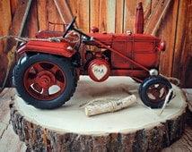 Tractor-John Deer-western-rustic-barn-wedding-cake topper-farm-ring bearer-alternative-ring holder-hunting-camouflage-western wedding-bride