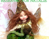 OOAK  fantasy fairy art doll pixie sprite polymer clay sculpture child baby                  free shipping