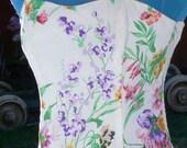 boned strapless  summer dress size 9-10