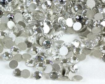 100 pcs Swarovski Flatbacks Crystal Clear 6ss (1.9-2.1mm) 2028 Xilion SS6