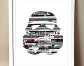 Art Print - Stormtrooper - Star Wars Magazine Strip Art - 8x10 (Multiple Colors)