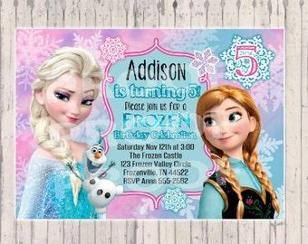 Frozen invitation frozen birthday invitation frozen birthday party us
