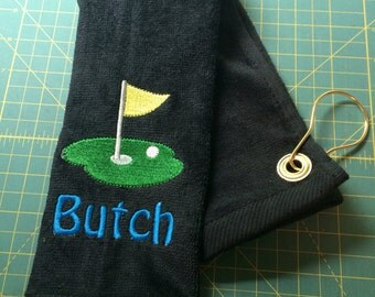 Personalized golf towel, golf, monogrammed golf towel, embroidered golf towel, golf birthday, golf gift, golf accessorys,