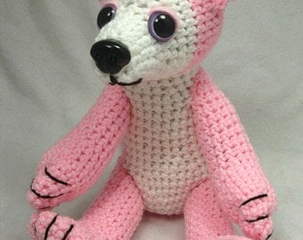 Pink Wolf Doll