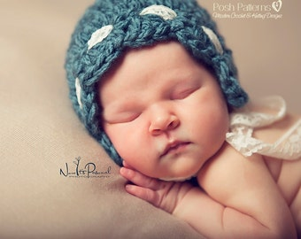Crochet Pattern - Crochet Bonnet Pattern - Crochet Pattern Baby - Baby, Toddler, Child, Kids, Adult Sizes - Photo Prop Pattern - PDF 364