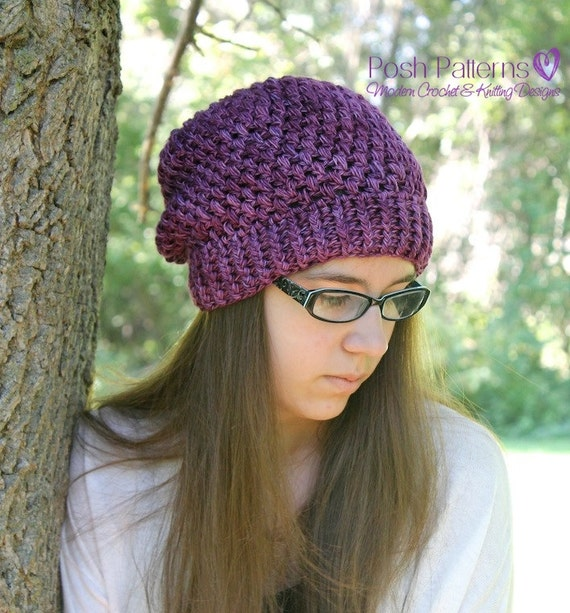 Crochet Slouchy Hat Pattern For Child : Crochet PATTERN Crochet Slouchy Hat Pattern Baby Crochet