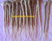 """CUSTOM Human hair dreadlock extenders extensions, 16"""" hair, 10 pcs"""