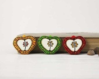 Yellow Apple Brooch Fruit  Brooch Food Jewelry