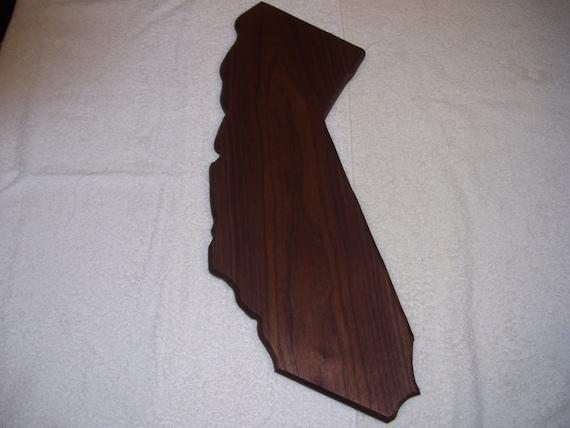 "State of California 5""x16""cutting board - made of walnut"