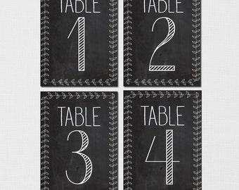 ... Table Numbers, Rustic Chalkboard Table Numbers, Table Number, Vintage Vintage Table Numbers