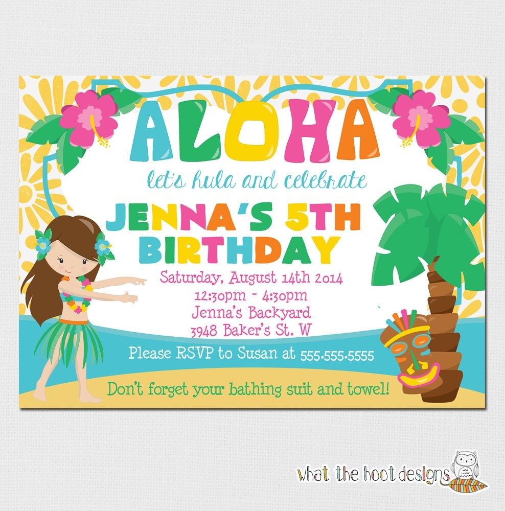 Luau invitation luau birthday party luau pool party zoom stopboris Gallery