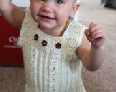 Hand Knit Baby Sweater Vest--for Boys and Girls