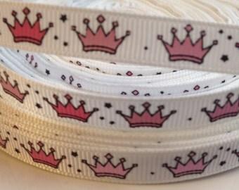 3/8 Princess Crown Ribbon- 3 Yards