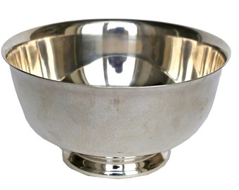 Vintage Large Reed & Barton Silverplate Paul Revere Style Bowl