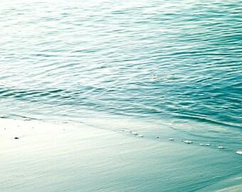 nautical decor beach photography water ripples 8x10 20x30 fine art photography ocean pastel wall art blue bedroom decor abstract photography