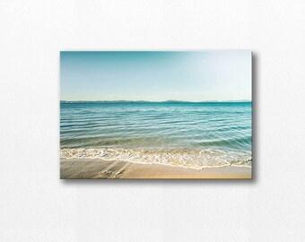 beach photography ocean canvas nautical decor 12x12 24x36 fine art photograph canvas print ocean gallery wrap large art coastal canvas wrap