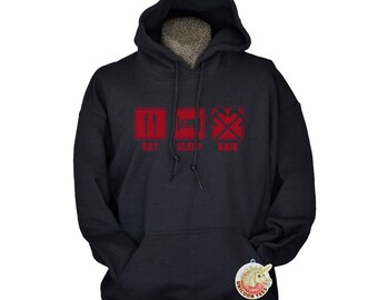 Boyfriend Gift Eat Sleep Raid Hoodie - Gaming Gifts for Men - Birthday Gifts for Boyfriend - Mens Hoodies Sweatshirts