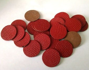 Vintage Red Leather Discs