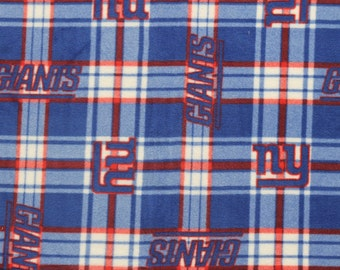 NFL New York Giants Fleece V1 Fabric by the yard