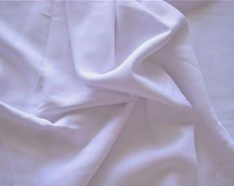 Rayon Challis Fabric by the Yard (White)