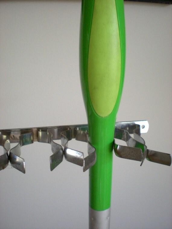Metal Hangers Hooks Mop Broom Holder Wall Closet Storage