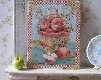 Apple Barrel Sign/Print for Dollhouse