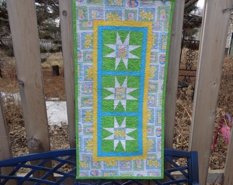 Easter Wall Hanging, Easter Banner, Spring Table runner, table runner