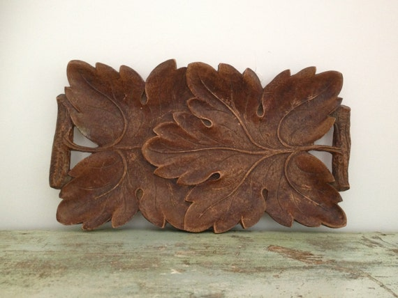 Vintage Syroco Wood Tray By Vintagewall On Etsy