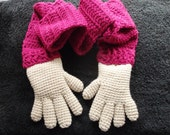 fun hands crochet scarf