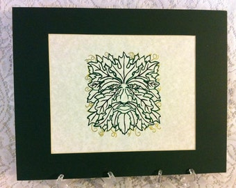 Pen and Ink Green Man