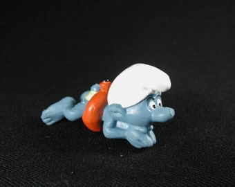 Vintage Swimmer Smurf Figurine