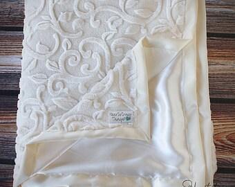 minky blanket satin blanket silk blanket soft blanket adult blanket ivory