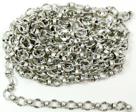 bead and link connector chain jewelry chain antique silver
