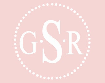 Monogram Nursery Wall Decal | Personalized Decal | Dorm Decor