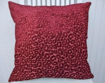 Fuchsia Decorative Pillow Cover--Velvet Throw Pillow Accent Pillow--18x18 20x20 or 22x22 Accent Pillow