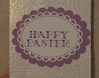 Four Stamped and embossed Happy Easter cards A2 with envelopse (4)