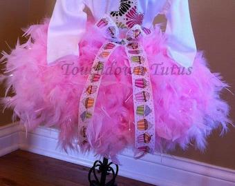 Feather tutu birthday outfit
