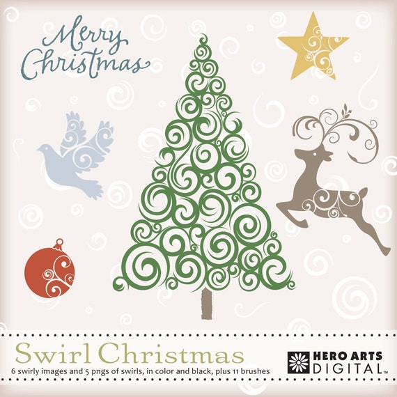 Hero Arts Swirl Christmas Digital Kit DK024