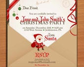 Letter from Santa /  Christmas Party DIY Customized Printable Party Invitations