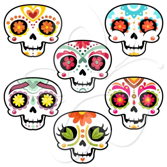 Sugar Skulls Mexican Day of the Dead Clip by ...