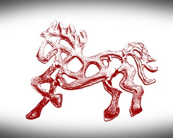 Horse Jewelry, Equestrian Jewelry. Cowgirl Necklace. Original Running Horse created by Judy Reno Designs.