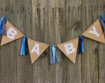 Baby Shower Banner, Burlap Baby Banner, Custom Baby Banner for Baby Shower or Welcome Party, Baby Banner Photo Prop