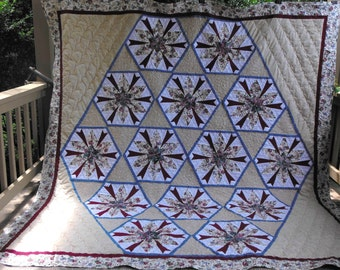 King/Queen Quuilt  - Modernistic Star Quilt  Revisited
