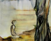 Art Print, Contemporary Giclee Print, Abstract / Surreal, Australian Landscape, Exhibition Art Archival Print - Solace - Kylie Fogarty 2011