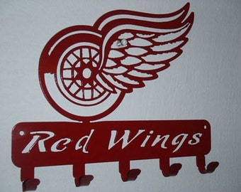 Key Rack Detroit Red Wings Metal Art
