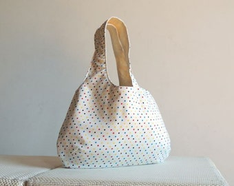 Tiny Polka Dots Hobo Tote Bag